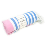 CottonAge Avalon Series Turkish Towel, 375g, Light Pink - Sweet Blue