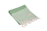 CottonAge Melbourne Series Turkish Towel - Peshtemal #Green Coral