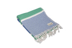 CottonAge Gold Coast Series Turkish Towel - Peshtemal #Navy Green