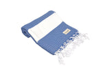 CottonAge Sydney Series Turkish Towel - Peshtemal #Blue Diamond
