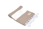 CottonAge Sydney Series Turkish Towel - Peshtemal #Brownish Diamond