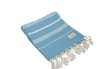 CottonAge Buldan Series Turkish Towel - Peshtemal #Coral Blue