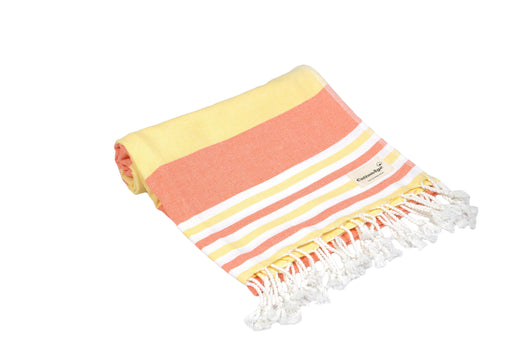 CottonAge Bondi Beach Series Turkish Towel, 375g, Sunshine