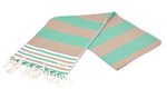 CottonAge Bondi Beach Series Turkish Towel - Peshtemal #Greensward