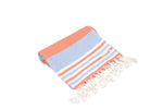 CottonAge Bondi Beach Series Turkish Towel - Peshtemal #Orange Blue