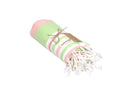 CottonAge Bondi Beach Series Turkish Towel - Peshtemal #Pink Green