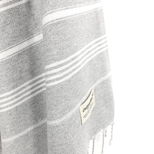 Turkish Towel, CottonAge Sapphire Series, 375g, Soft Grey