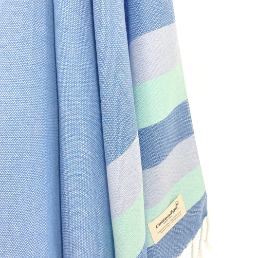 Turkish Towel, CottonAge Celestine Series, 375g, Denim Blue