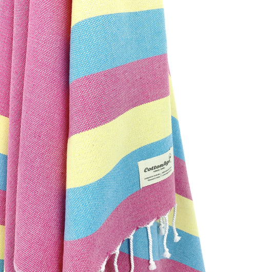Turkish Towel, CottonAge Celestine Series, 375g, Fuchsia