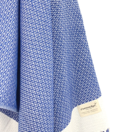 Turkish Towel, CottonAge Diamond Series, 420g, Royal Blue