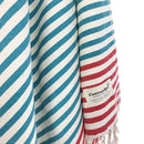 Turkish Towel, CottonAge Oxford Series, 350g, Jade-Red
