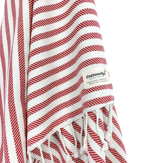 Turkish Towel, CottonAge Acacia Series, 350g, Coral Red-Cotton