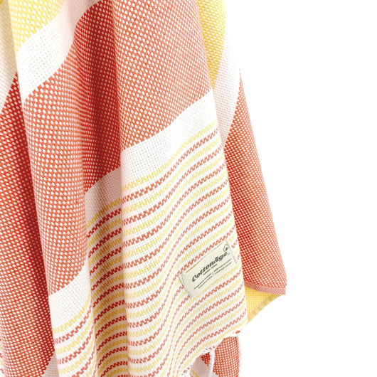 Turkish Towel, CottonAge Esperance Series, 420g, Orange-Yellow