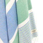 Turkish Towel, CottonAge Esperance Series, 420g, Navy-Green