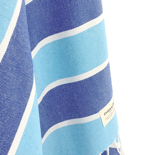 Turkish Towel, CottonAge Golden Beach Series, 375g, Ocean Blues
