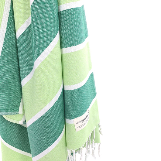 Turkish Towel, CottonAge Golden Beach Series, 375g, Fascinating Green