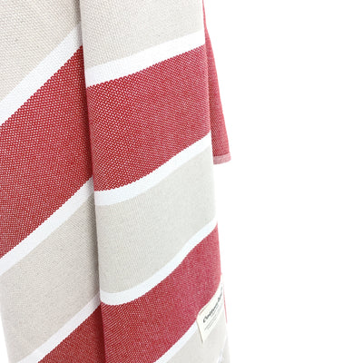 Turkish Towel, CottonAge Golden Beach Series, 375g, Beige-Red