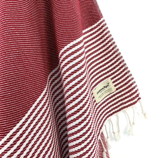 Turkish Towel, CottonAge Ocean Breeze Series, 420g, Burgundy