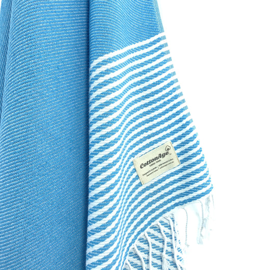 Turkish Towel, CottonAge Ocean Breeze Series, 420g, Turquoise
