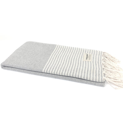 Turkish Towel, CottonAge Ocean Breeze Series, 420g, Soft Grey