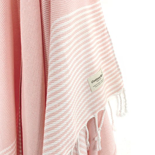 Turkish Towel, CottonAge Ocean Breeze Series, 420g, Pearl Pink