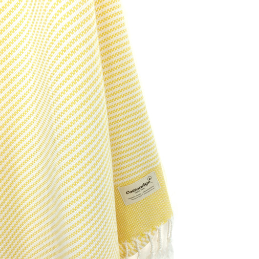 Turkish Towel, CottonAge Pearl Series, 420g, Lemon