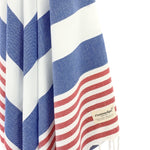 Turkish Towel, CottonAge Aquamarine Series, 375g, Navy-Red