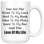 You Are The Wrist To My Lock Large Mug (15 Oz)