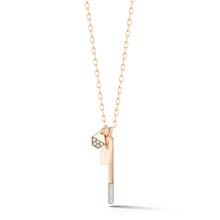 GRANT 18K MINI GRANT DIAMOND BAR CHARM