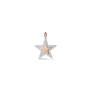 ABC x WF DORA 18K ROSE GOLD & DIAMOND LARGE STAR CHARM