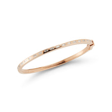 OTTOLINE 18K ROSE GOLD AND DIAMOND BAGUETTE HINGED BANGLE