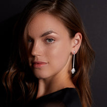SYDNEY 18K LONG ORIGAMI DIAMOND DROP EARRINGS