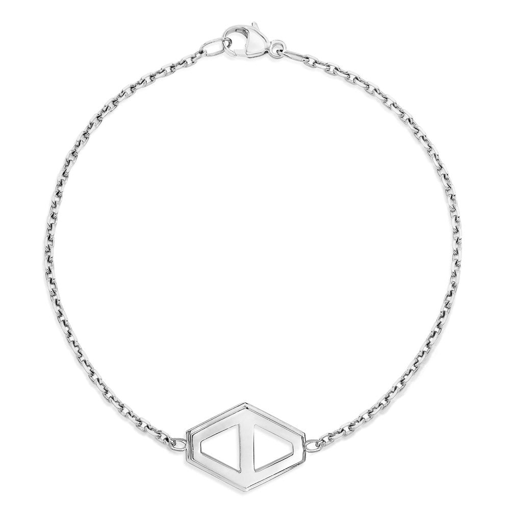KEYNES MEDIUM SIGNATURE HEXAGON BRACELET