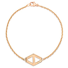 KEYNES 18K ROSE GOLD MEDIUM SIGNATURE HEXAGON BRACELET