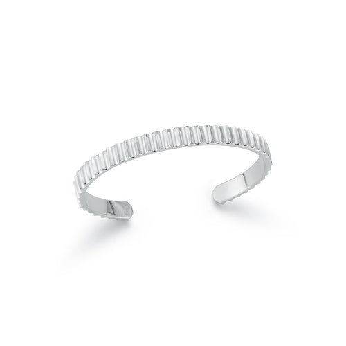 CLIVE STERLING SILVER 5 MM WIDE FLUTED BANGLE