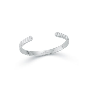 CLIVE STERLING SILVER WIDE FLUTED BANGLE