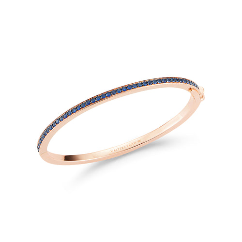 GRANT 18K SAPPHIRE HINGED 3MM BANGLE