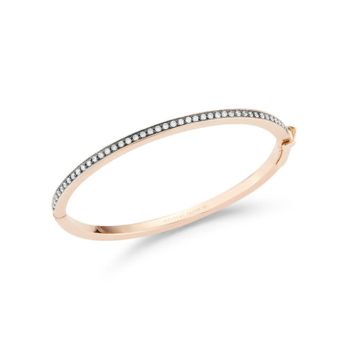 GRANT 18K 3MM HINGED DIAMOND BANGLE