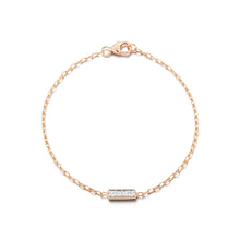 GRANT 18K ROSE GOLD AND DIAMOND BAR BRACELET