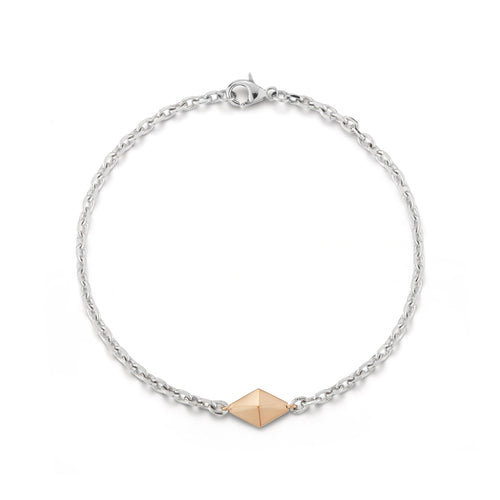 SYDNEY TWO TONE MINI ORIGAMI CHAIN BRACELET