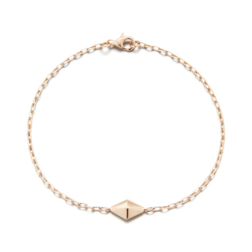 SYDNEY 18K ROSE GOLD MINI ORIGAMI CHAIN BRACELET