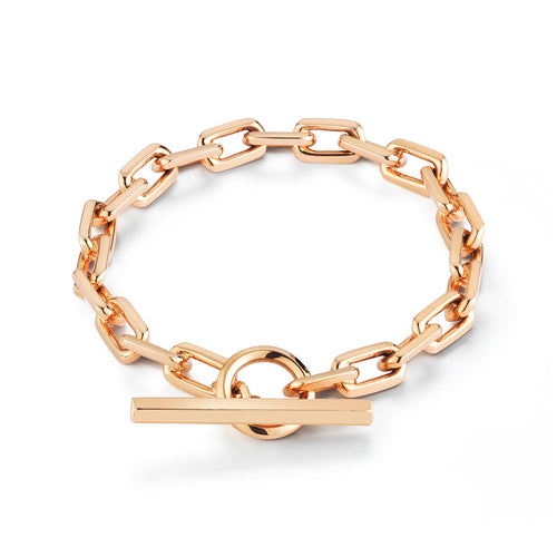 SAXON 18K TOGGLE CHAIN LINK BRACELET