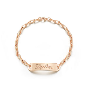 CARRINGTON 18K ROSE GOLD MINI ID BAR BRACELET
