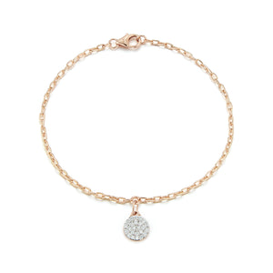 SAXON 18K GOLD 2.2MM CHAIN WITH SINGLE LINK FOR MINI CHARM