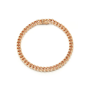SAXON 18K ROSE GOLD MINI CURB LINK BRACELET