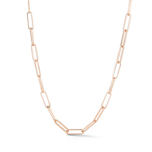 SAXON 18K ROSE GOLD 15mm L x 4.5mm W CHAIN NECKLACE