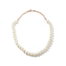 SAXON ONE OF A KIND 18K ROSE GOLD CHAIN LINK AND GRADUATING WHITE CORAL NECKLACE