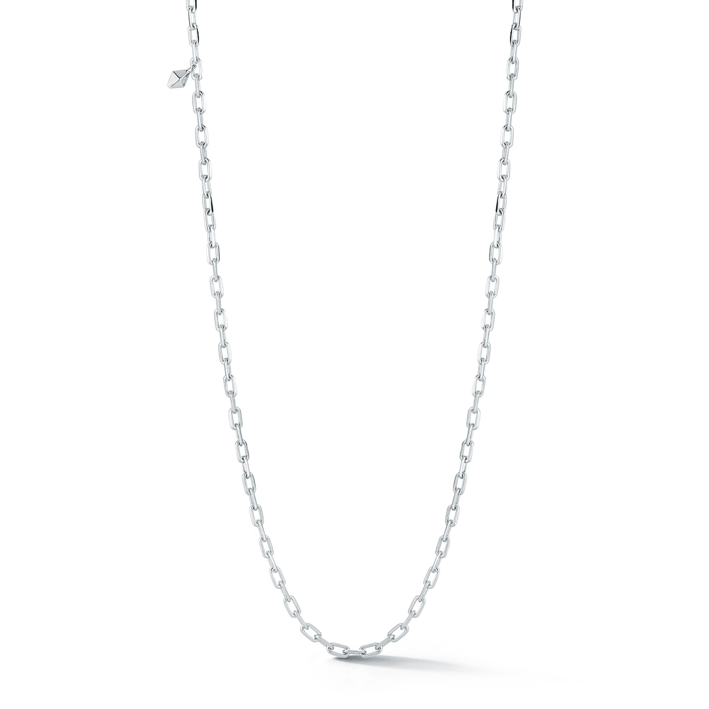 SAXON STERLING SILVER CHARM CHAIN NECKLACE