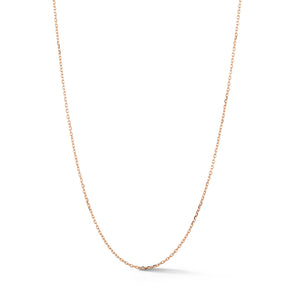 CHAIN 1 - 18K ROSE GOLD CHAIN LINK NECKLACE - 1 mm