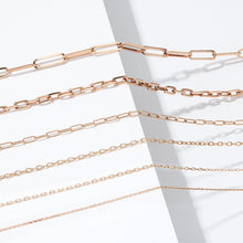 CHAIN 3 - 18K ROSE GOLD CHAIN LINK NECKLACE- 2.10mm